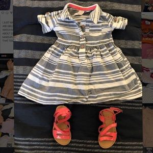 Baby girl carters dress size 9m